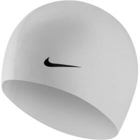 Nike Swim Solid Siliconen Badmuts, wit